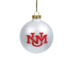 UNM Hanging Ornament UNM Logo White