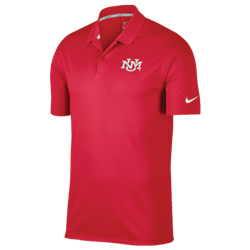 Men's Nike Dri-Fit Polo UNM Logo Red