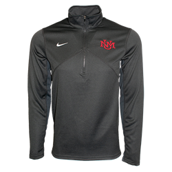 Men's Nike 1/4 Zip Jacket UNM Interlocking Gray